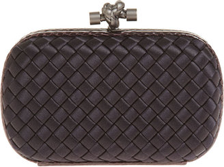 Bottega Veneta Intrec Impero Knot Clutch - Black - Clutches