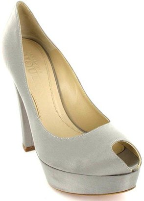 Alexander Mcqueen Satin Platform Pump - Heels
