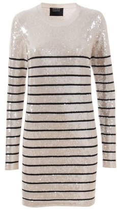 MARKUS LUPFER - Stripe sequin dress - Clothes