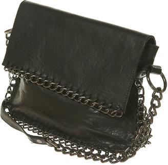 Leather Chain Cross Body Bag - Shoulder Bags