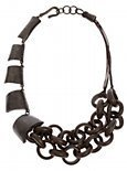 Kyra Wooden Link Necklace - Marciano