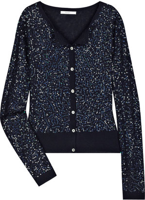 Crumpet Diamond sequined cashmere cardigan - Sequined Sweaters