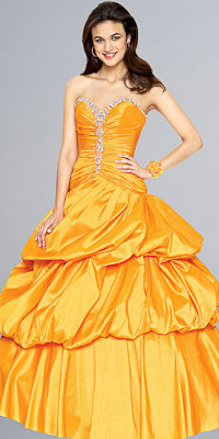 Tangerine Ball Gowns by Mori Lee - Princess Dresses