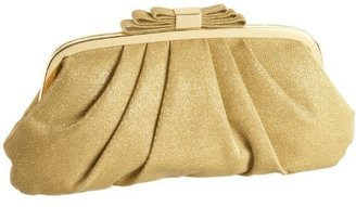 Menbur Pleated Metallic Clutch - Gold Clutch Bags
