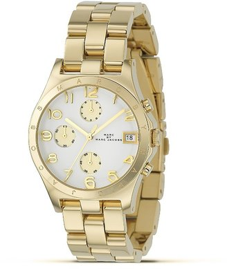 MARC BY MARC JACOBS &quot;Henry&quot; Round Chronograph Watch, 36.5 mm - Gold Chronograph Watches 