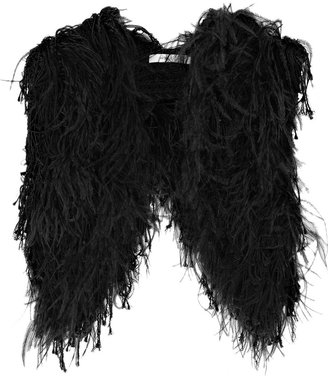 Vanessa Bruno Feather crochet shrug - Fur Scarf
