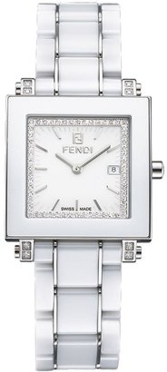 Fendi Watch, Women's White Ceramic Bracelet F622140DDC - Fendi