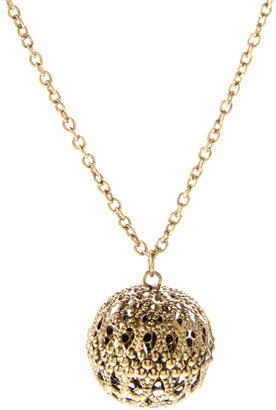 ASOS Filigree Ball Long Pendant Necklace - Gold Pendant Necklaces
