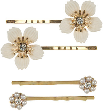 Jeweled Glam Bobby Pin Set - Hair Pin