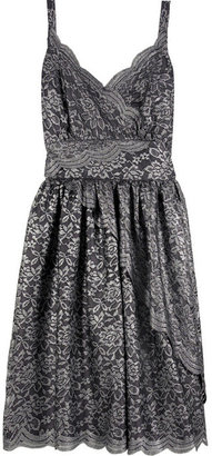 Anna Sui Metallic lace prom dress - Anna Sui