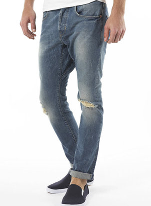 Light Blue Ripped Carrot Jeans - Spring 2010 Men's Fashion