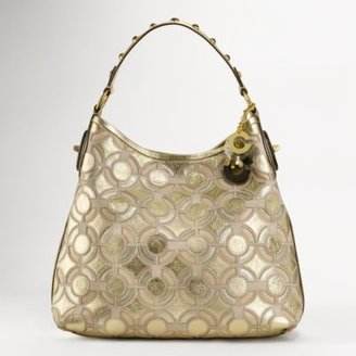 Coach Peyton Leather Mosaic Shoulder Bag - Coach