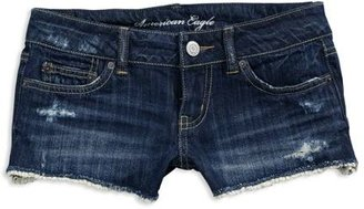 AE Denim Lace Hem Shorties - Clothes