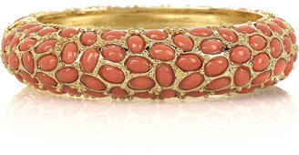 Kenneth Jay Lane Cabochon-embellished bangle - Seaside Accessories