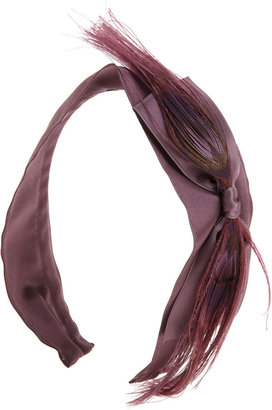 Jennifer Ouellette Satin Feather Headband - Jennifer Ouellette