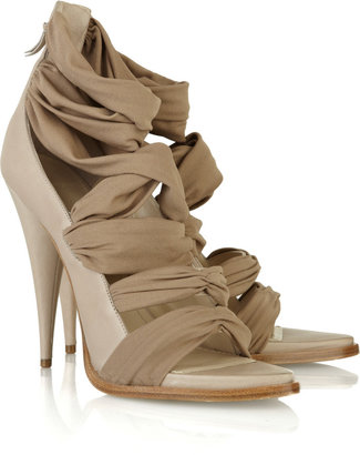 Givenchy Jersey-strap leather sandals - Heels