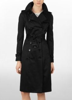 Cotton Satin Trench Coat - Outerwear