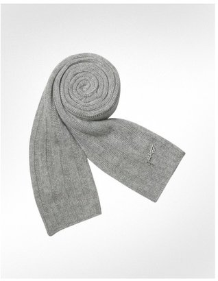 Guess Signature Knit Ribbed Long Scarf - Accessories