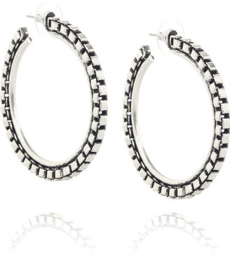 Lee Angel Biker chain hoop earrings - Jewelry