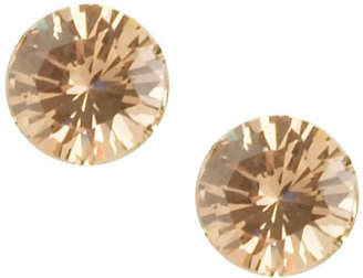 Faux Champagne Diamond Stud Earrings - Arden B