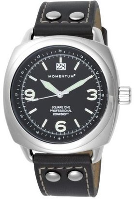 Momentum Men's 1M-SP66B2 Square One Water Resistant Sports Watch - Black Leather Sport Watches