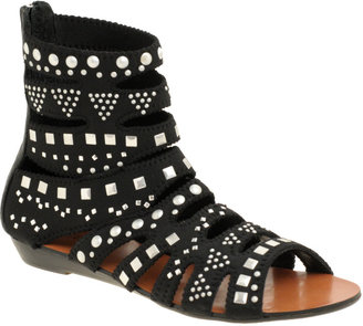 Zigi Studded Flat Neoprene Gladiator Sandals - Summer&#39;s Hottest Gladiator Sandals