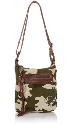 Juicy Couture Camouflage-Print Terry Crossbody Bag - Printed Leather Handbags