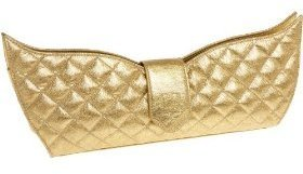 CATE ADAIR CABM-9 Quilted Metallic Croco Clutch - Endless.com