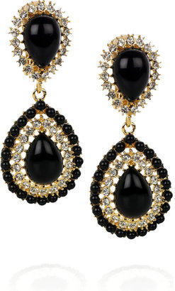 Kenneth Jay Lane 22-karat gold-plated Swarovski earrings - Dangle Earrings