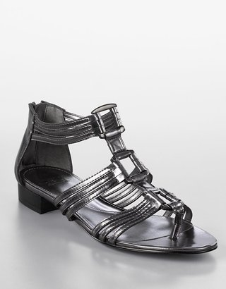 Circa Joan &amp; david Lalia Croco-Embossed Thong Gladiator Sandals - Sandals
