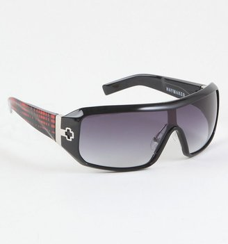 Spy Haymaker Plaid Sunglasses - Shield Wrap Sunglasses