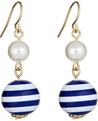 Blu Bijoux Nautical Earrings - White Stripes 