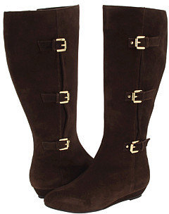 rsvp - Denisse (Wide Calf) (Brown Suede) - Tall Boots For Big Calves