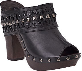 Steven by Steve Madden - Durann Black Leather - Chic and Easy Clogs