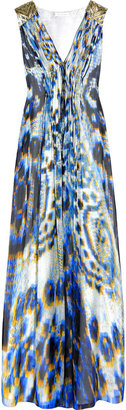 Matthew Williamson Printed silk-chiffon maxi dress - Rebecca Minkoff&#39;s Easy Style