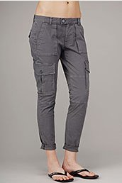7 For All Mankind Josefina Cargo Pants in Titanium - Pants & Shorts