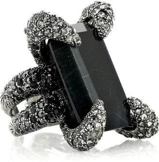 Roberto Cavalli Spider Swarovski crystal ring - Creepy Crawly Spider Jewels