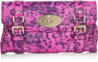 Mulberry Alexa leather leopard-print clutch - Mulberry