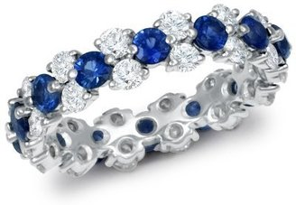Garland Sapphire and Diamond  Eternity Ring in Platinum (1 1/4 ct. tw.) - Diamond Ring