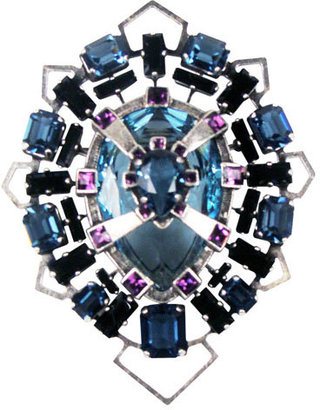 Lanvin Blue Broche -  Luxurious Lanvin Jewelry