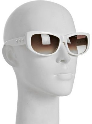 Marc by Marc Jacobs white stud detailed retro sunglasses - Novelty Sunglasses
