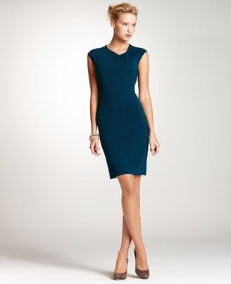Ann Taylor Asymmetrical Neck Knit Dress