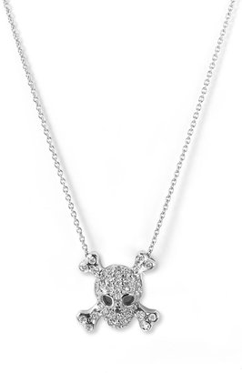 Roberto Coin &#39;Tiny Treasures&#39; Skull &amp; Crossbones Pendant Necklace - Stellar Skull Jewels 