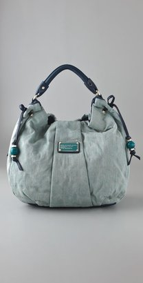 Marc By Marc Jacobs Quilty Denim Lila Satchel - Marc By Marc Jacobs