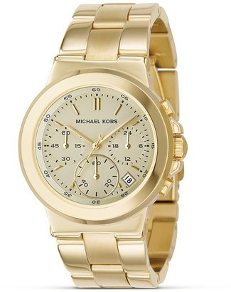 MICHAEL Michael Kors Stainless Steel Gold Plated Chronograph Watch with Bracelet Strap, 38 mm - Gold Chronograph Watches 
