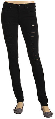 Blank NYC - Offset Ripped Skinny in Black (Black) - Zappos