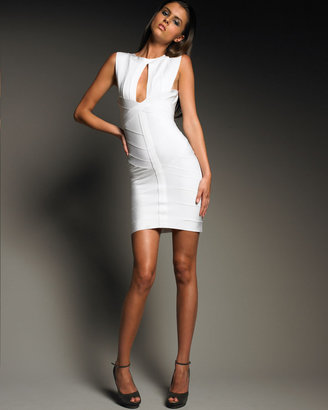 Herve Leger High-Neck Minidress - Clothes