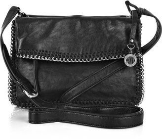 DKNY Chain-trimmed leather shoulder bag - Shoulder Bags