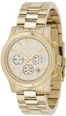 Michael Kors  Midsized Chronograph Watch, Gold - Gold Chronograph Watches 