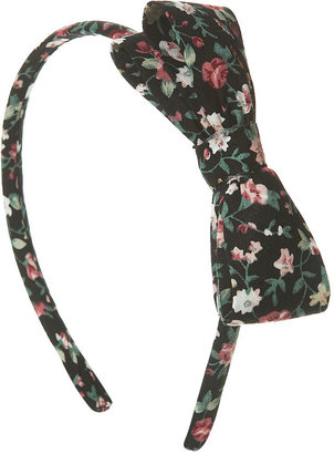 Floral Bow Headband - Hair Accessories